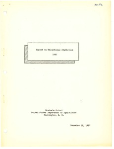 Thumbnail for the first (or only) page of Educational Statistics: 1950.