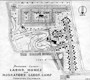 Thumbnail for the first (or only) page of FSA Labor camp maps.