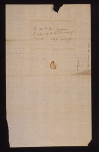 Thumbnail for the first (or only) page of Letter from Dio, Luke O. to Thomas Jefferson, address on back of letter..