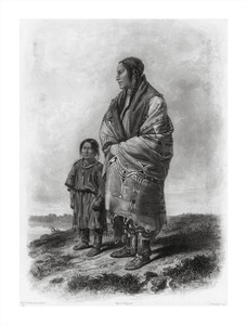 Thumbnail for the first (or only) page of Tableau 9: Dacota Woman And Assiniboin Girl .