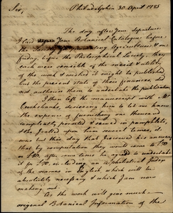 Thumbnail for the first (or only) page of Vaughan to Marshall, April 30, 1785.