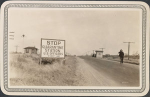 Thumbnail for the first (or only) page of Sign used at traffic inspection station on the highway.