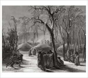 Thumbnail for the first (or only) page of Tableau 26: Winter Village Of The Minatarres .
