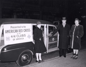 Thumbnail for the first (or only) page of 4-H station wagon ambulance given to Red Cross..