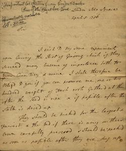 Banks to Marshall, April 5, 1786