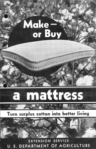 Thumbnail for the first (or only) page of Cotton Mattress Making, cover.