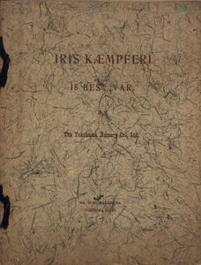Thumbnail for the first (or only) page of Iris Kaempferi 18 Best Var., Front Cover.