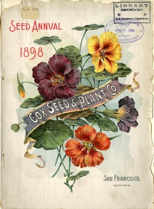 Thumbnail for the first (or only) page of Front Cover of Cox Seed & Plant Co..