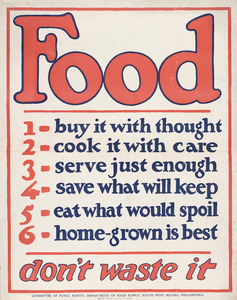 Thumbnail for the first (or only) page of Food Don't Waste It.