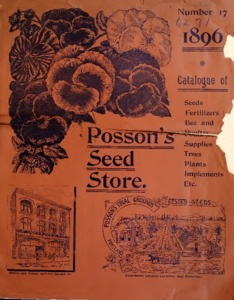 Thumbnail for the first (or only) page of Posson's Seed Store catalog.