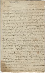Thumbnail for the first (or only) page of Marshall letter, September 12, 1788.
