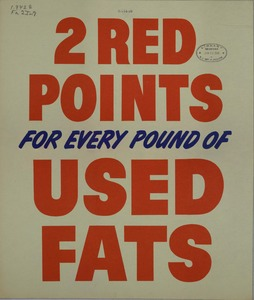 Thumbnail for the first (or only) page of 2 Red Points For Every Pound of Used Fats.