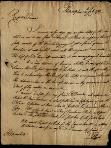 Thumbnail for the first (or only) page of Dr. Thomas Parke to Marshall, July 10, 1789.
