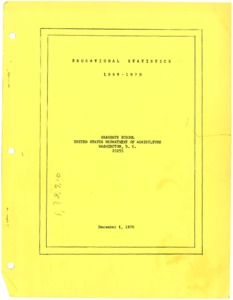 Thumbnail for the first (or only) page of Educational Statistics: 1969-1970.