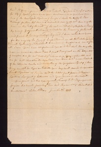 Thumbnail for the first (or only) page of Letter from Dio, Luke O. to Thomas Jefferson, about his qualifications for laying out public gardens in Washington, D.C..