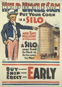 Thumbnail for the first (or only) page of Help Uncle Sam Put Your Corn In A Silo and Save Millions of Dollars.