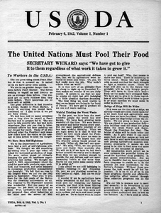 Thumbnail for the first (or only) page of USDA, February 6, 1942  (Newsletter).