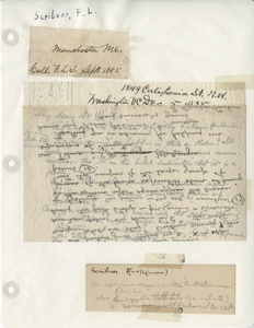 Thumbnail for the first (or only) page of Handwriting sample: Frank Lamson Scribner.