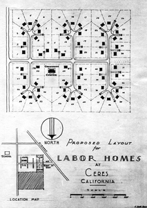 Thumbnail for the first (or only) page of FSA Labor camp maps - Ceres.