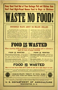 Thumbnail for the first (or only) page of Waste No Food!.