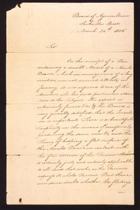 Thumbnail for the first (or only) page of Letter from Lord Sheffield to Thomas Jefferson, acknowledging his receipt of a model of Jefferson's mould board..