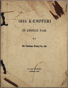 Thumbnail for the first (or only) page of Iris Kaempferi 25 Choice Var., Front Cover.