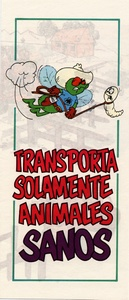 Thumbnail for the first (or only) page of Transporta Solamente Animales Sanos.