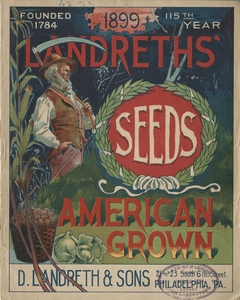 Thumbnail for the first (or only) page of Cover of Landreths' Seeds.