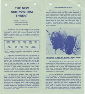 Thumbnail for the first (or only) page of The New Screwworm Threat.