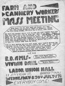 Thumbnail for the first (or only) page of Farm and Cannery Workers Mass Meeting.