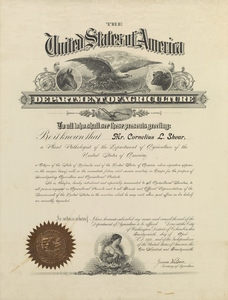 Thumbnail for the first (or only) page of Certificate of Introduction signed by James Wilson.