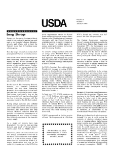 Thumbnail for the first (or only) page of USDA, January 9, 1974 (Newsletter).