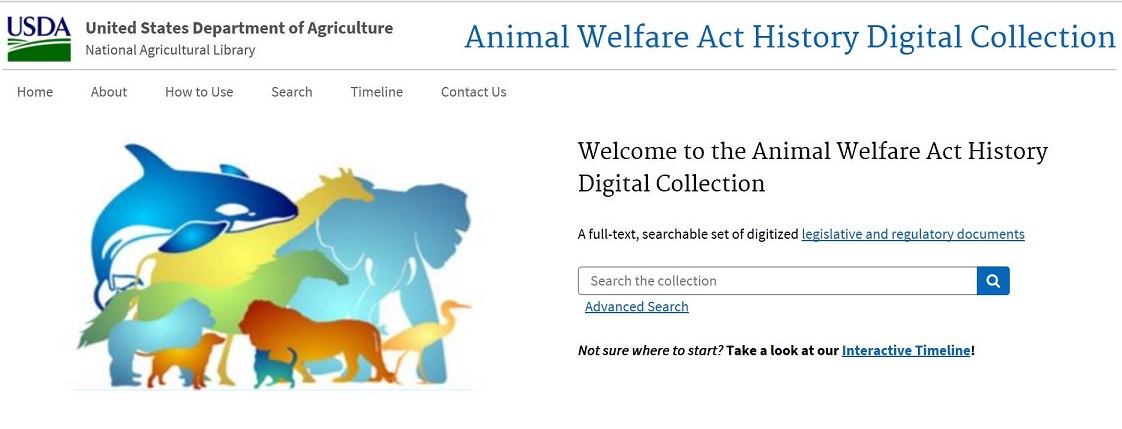 Animal Welfare Act History Digital Collection