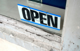 Open sign in business window: Copyright iStock Photos