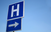 Letter H for Hospital on street sign: Copyright iStock Photos