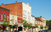 Rural Downtown mainstreet businesses: Copyright iStock Photos