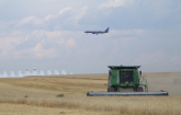 Demonstration of U. S. Department of Agriculture research exploring alternative uses for land near airports