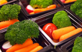 vegetables in trays used by USDA school meals program