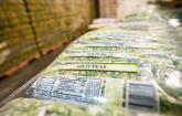 Image of food label on bag of split peas. U.S. Department of Agriculture (USDA) Secretary Sonny Perdue and U.S. Senator Cory Gardner visit Food Bank of the Rockies' USDA commodities warehouse, in Denver, Co., on June 19, 2020.
