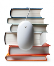Stack of Books with a computer mouse: Copyright iStock Photos